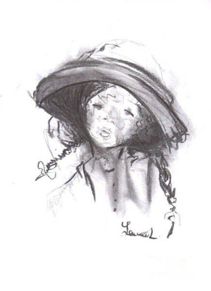 Drawing - The Bonnet by Laurie Lundquist