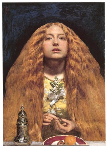 Bridesmaids Painting - The Bridesmaid by John Everett Millais