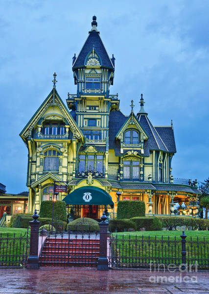 Queen Anne Style Photograph - The Carson Mansion Is One Of The Most Notable Examples Of Victorian Architecture. by Jamie Pham