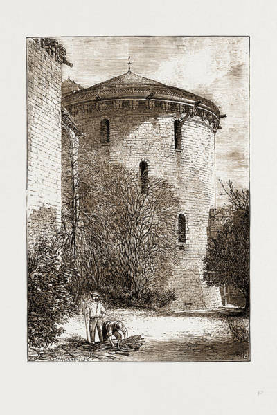 Chateau Drawing - The Chateau Damboise On The Loire, France by Litz Collection
