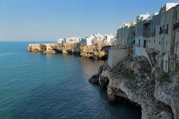 Mare Photograph - The Cliff-top Town Of Polignano A Mare by Martin Child