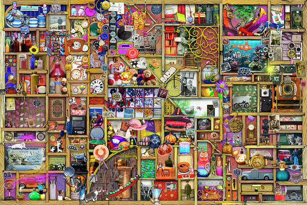 Wall Art - Painting - The Collector's Cupboard by MGL Meiklejohn Graphics Licensing
