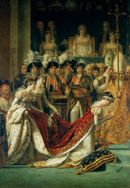 Bishop Photograph - The Consecration Of The Emperor Napoleon 1769-1821 And The Coronation Of The Empress Josephine by Jacques Louis David