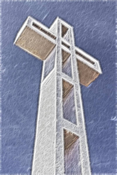 Digital Art - The Cross by Photographic Art by Russel Ray Photos