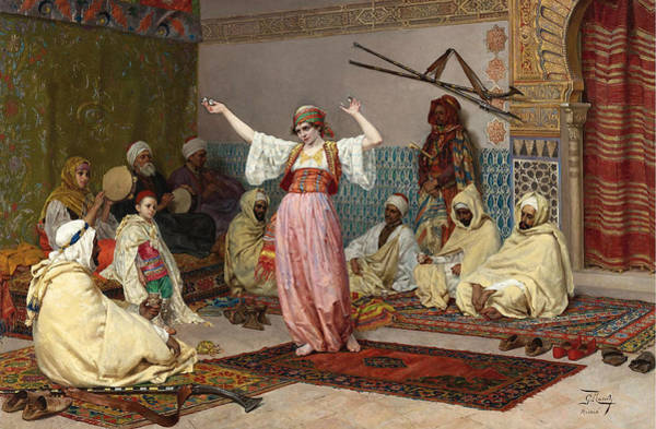 Giulio Painting - The Dance by Giulio Rosati