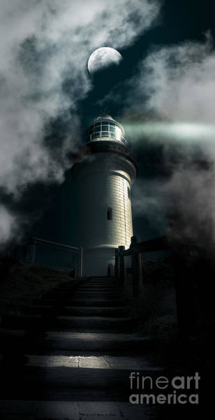 Wall Art - Photograph - The Dark Atmospheric Lighthouse by Jorgo Photography - Wall Art Gallery
