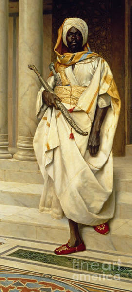 Marble Painting - The Emir by Ludwig Deutsch