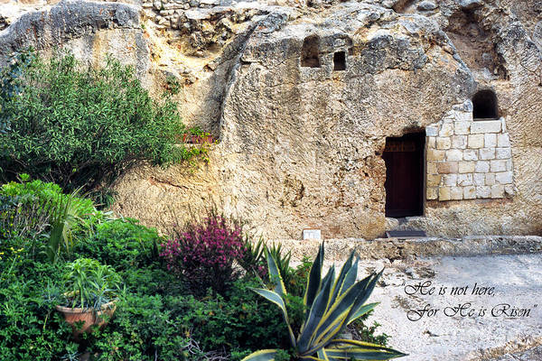 Jewish Homeland Photograph - The Empty Tomb by Thomas R Fletcher