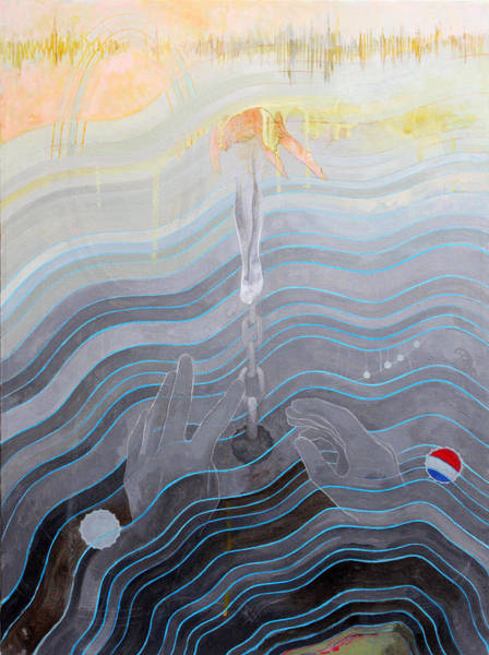 Contemporary Painting - the escape of Ray Charles by Sandra Cohen
