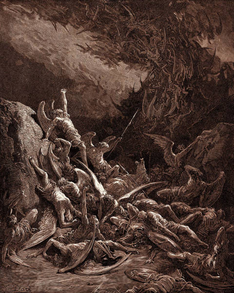 Wall Art - Drawing - The Fall Of The Rebel Angels by Litz Collection