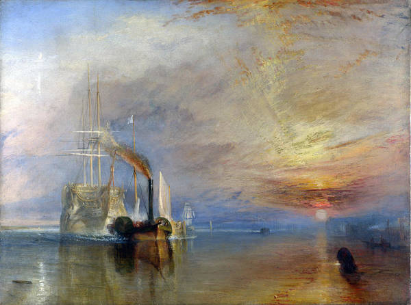 Painting - The Fighting Temeraire Tugged To Her Last Berth To Be Broken Up by Celestial Images