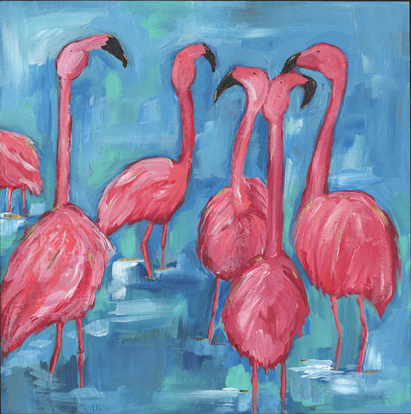 Wall Art - Painting - The Flock by Anne Seay