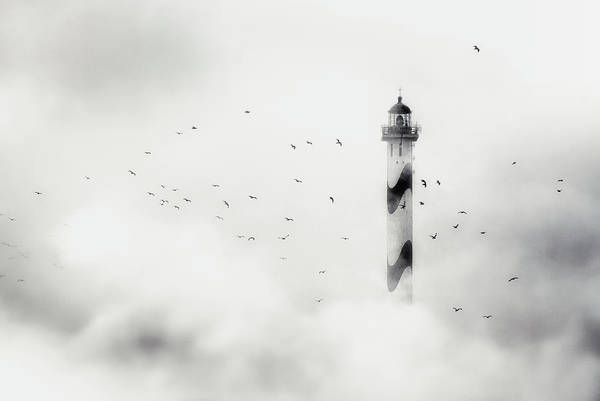Cloudy Photograph - The Fog by Piet Flour