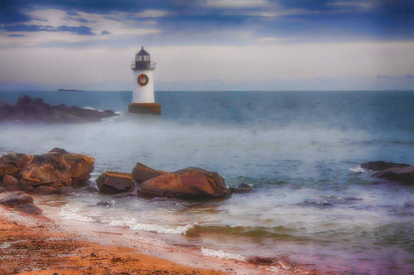 Pickering Photograph - The Fog Rises At The Lighthouse by Jeff Folger