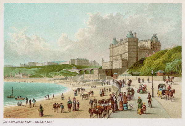 Foreshore Wall Art - Drawing - The Foreshore Road At  Scarborough by Mary Evans Picture Library