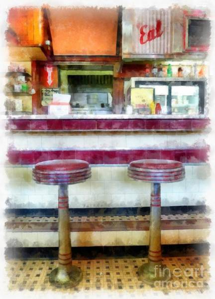 Photograph - The Four Aces Diner by Edward Fielding