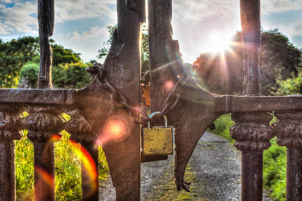 Rusty Chain Wall Art - Photograph - The Gate by Semmick Photo