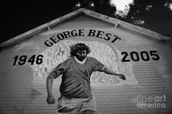 George Best Wall Art - Photograph - The George Best Memorial Mural On The Lower Cregagh Road In Belfast Northern Ireland by Joe Fox