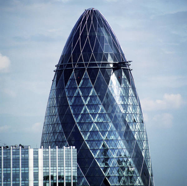St. Mary Photograph - The Gherkin by Mark Thomas/science Photo Library
