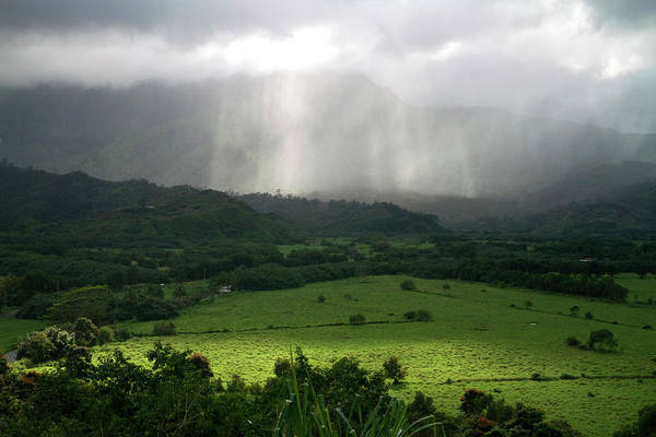 Archipelago Photograph - The Green Valley Surrounding Hanalei by David R. Frazier