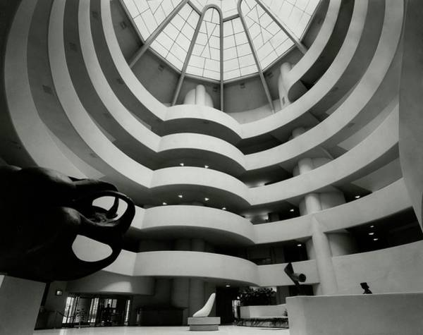 Urban Scene Photograph - The Guggenheim Museum In New York City by Eveyln Hofer