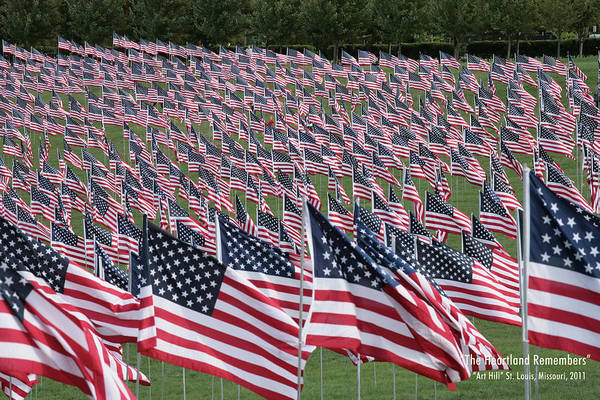 Photograph - The Heartland Remembers 9-11 by Harold Rau