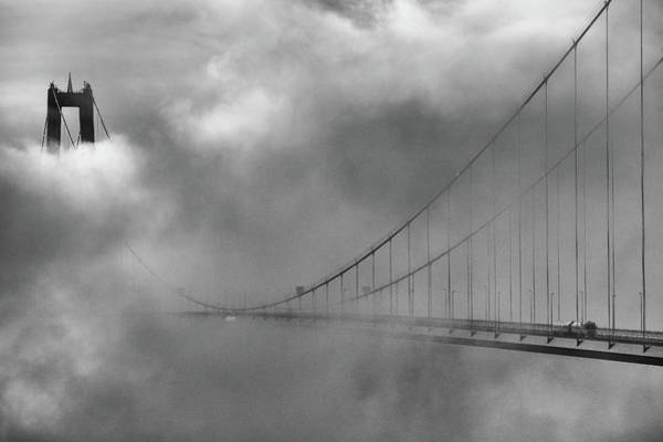 Suspension Bridge Photograph - The High Coast Bridge by Joakim Orrvik