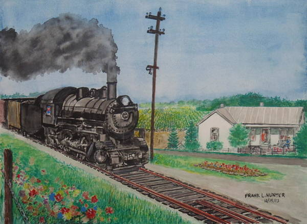 Painting - The Hillsboro Local Passing My Birthplace At Sardinia by Frank Hunter