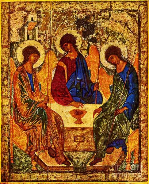 Painting - The Holy Trinity by Doc Braham