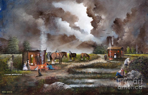 Painting - The Horse Traders by Ken Wood
