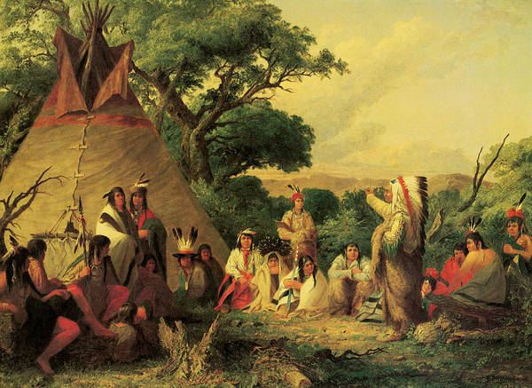 Wall Art - Photograph - The Indian Council by Seth Eastman