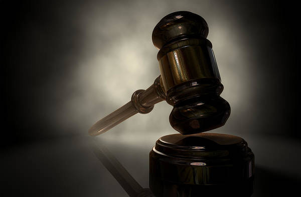 Courting Digital Art - The Justice Gavel by Allan Swart