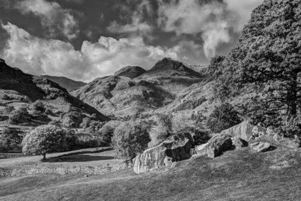 The Langdale Pikes From Copt Howe Art Print by Graham Moore