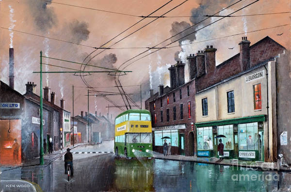 Painting - The Last Trolley Bus by Ken Wood
