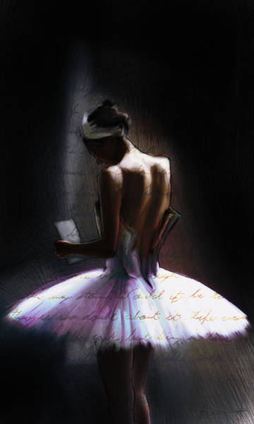 Wall Art - Painting - The Letter by H James Hoff