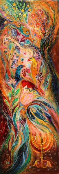 Wall Art - Painting - The Light Of Menorah by Elena Kotliarker
