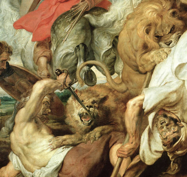 Sharp Painting - The Lion Hunt by Peter Paul Rubens