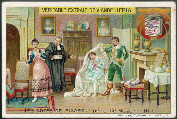 Liebig Wall Art - Drawing - (the Marriage Of Figaro)  Count by Mary Evans Picture Library