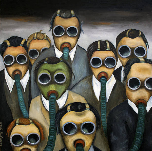 Painting - The Meeting  by Leah Saulnier The Painting Maniac