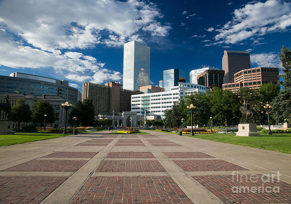 Mile High City Photograph - The Mile High City - Denver Colorado Skyline by Bridget Calip