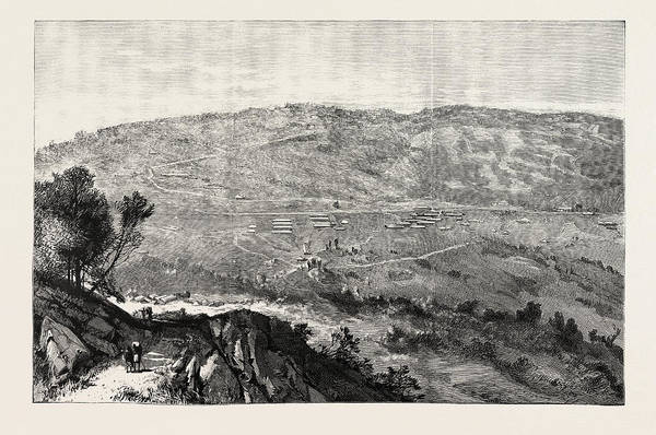 Wall Art - Drawing - The Military Expedition To Manipur Eastern Frontier by Indian School