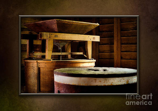 Mingus Mill Photograph - The Mingus Grinder-matted by Cindy Tiefenbrunn