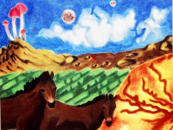 Drawing - The Name Is Jupiter by Karen Buford