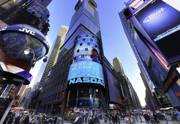 Midtown Manhattan Digital Art - The Nasdaq Stock Market by E Osmanoglu