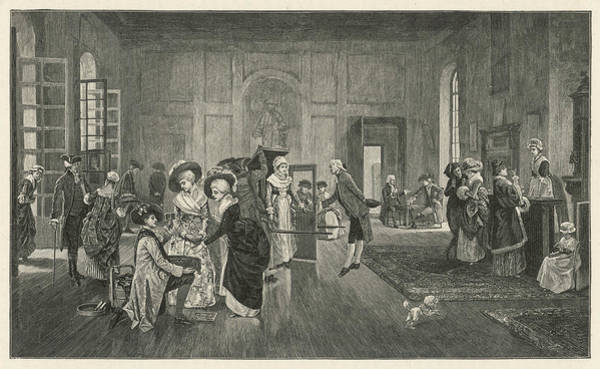 Wall Art - Drawing - The Old Pump Room, Bath by Mary Evans Picture Library