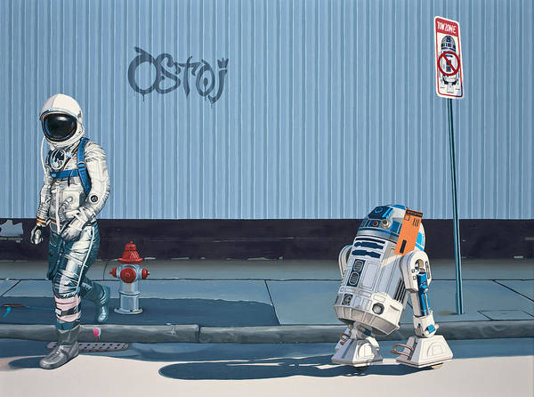 Science-fiction Wall Art - Painting - The Parking Ticket by Scott Listfield