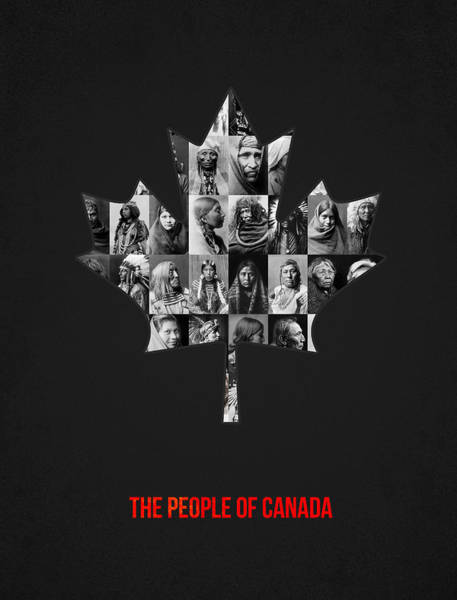 Indigenous Wall Art - Photograph - The People Of Canada by Aged Pixel