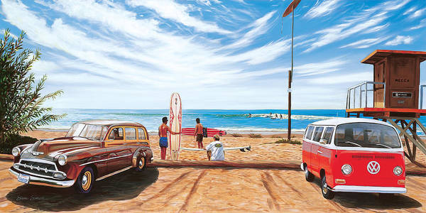 Wall Art - Painting - The Point San Onofre by Steve Simon
