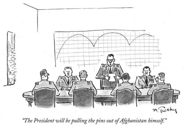 Wall Art - Drawing - The President Will Be Pulling The Pins by Mike Twohy