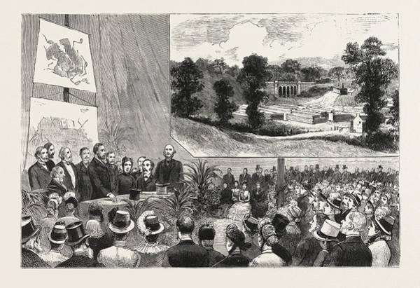 Wall Art - Drawing - The Proposed Purchase Of Parliament Hill by English School